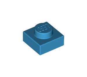LEGO Dark Azure Plate 1 x 1 (3024)