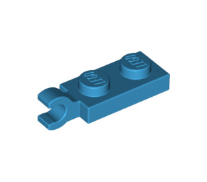 LEGO Dark Azure Plate 1 x 2 with Horizontal Clip on End (42923 / 63868)