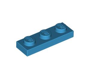 LEGO Dark Azure Plate 1 x 3 (3623)