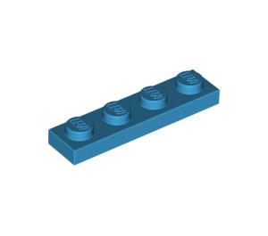LEGO Dark Azure Plate 1 x 4 (3710)
