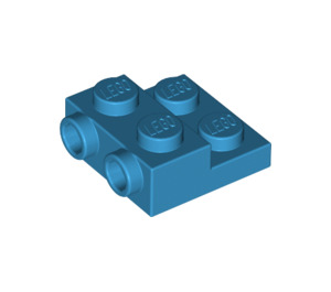 LEGO Dark Azure Plate 2 x 2 x 2/3 with 2 Studs on Side (99206)