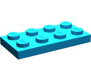 LEGO Dark Azure Plate 2 x 4 (3020)