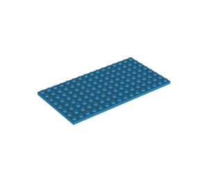 LEGO Dark Azure Plate 8 x 16 (92438)