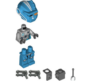 LEGO Dark Azure Robot Sidekick with Jet Pack Minifigure