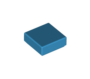 LEGO Dark Azure Tile 1 x 1 with Groove (3070)