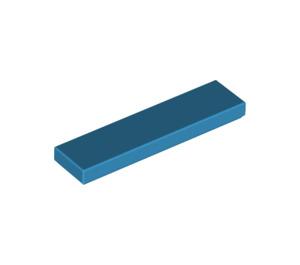 LEGO Dark Azure Tile 1 x 4 (2431)