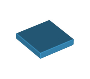 LEGO Dark Azure Tile 2 x 2 with Groove (3068)