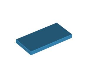 LEGO Dark Azure Tile 2 x 4 (87079)