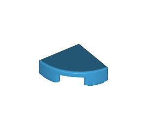 LEGO Dark Azure Tile Quarter Circle 1 x 1 (25269)