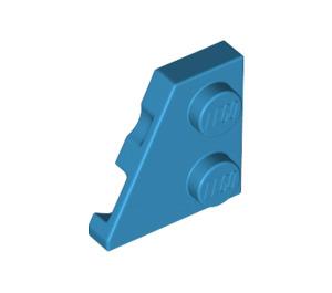 LEGO Dark Azure Wedge Plate 2 x 2 (27°) Left (24299)