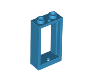 LEGO Dark Azure Window 1 x 2 x 3 without Sill (60593)