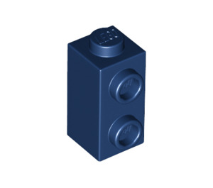 LEGO Dark Blue Brick 1 x 1 x 1.3 with Two Side Studs (32952)