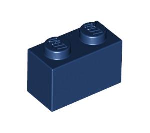 LEGO Dark Blue Brick 1 x 2 (3004)