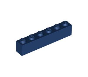 LEGO Dark Blue Brick 1 x 6 (3009)