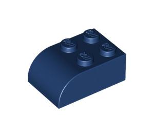 LEGO Dark Blue Brick 2 x 3 with Curved Top (6215)