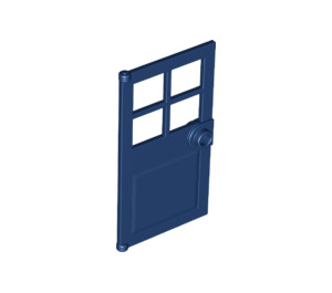 LEGO Dark Blue Door 1 x 4 x 6 with 4 Panes and Stud Handle (60623)