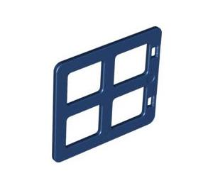 LEGO Dark Blue Duplo Window 4 x 3 with Bars with Same Sized Panes (90265)