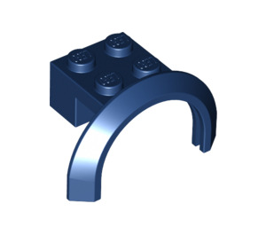 LEGO Dark Blue Mudguard with Round Arch 4 x 2 1/2 x 2 (50745)