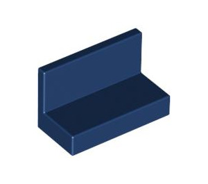LEGO Dark Blue Panel 1 x 2 x 1 without Rounded Corners (4865)