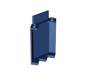 LEGO Dark Blue Panel Wall 3 x 3 x 6 Corner without Bottom Indentations (87421)