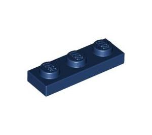 LEGO Dark Blue Plate 1 x 3 (3623)