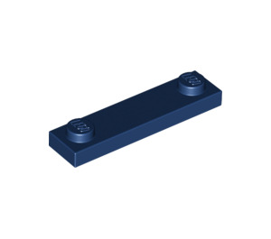 LEGO Dark Blue Plate 1 x 4 with Two Studs without Groove (92593)
