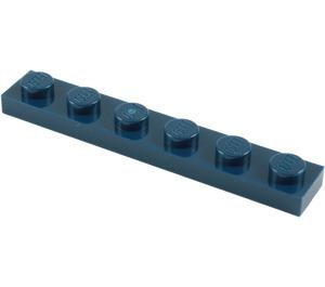 LEGO Dark Blue Plate 1 x 6 (3666)