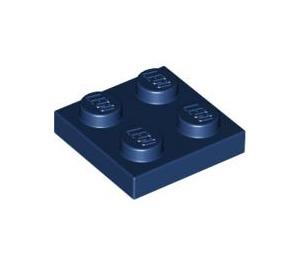 LEGO Dark Blue Plate 2 x 2 (3022)