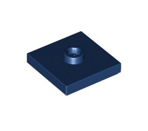 LEGO Dark Blue Plate 2 x 2 with Groove and 1 Center Stud (87580)