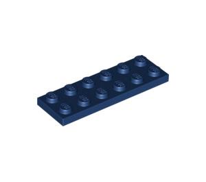 LEGO Dark Blue Plate 2 x 6 (3795)
