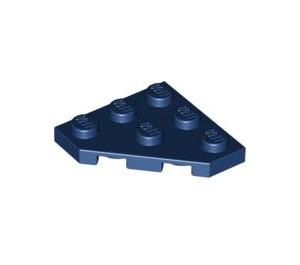 LEGO Dark Blue Plate 3 x 3 without Corner (2450)