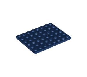 LEGO Dark Blue Plate 6 x 8 (3036)