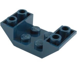 LEGO Dark Blue Slope 45° 4 x 2 Double Inverted with Open Center (4871)