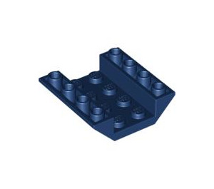 LEGO Dark Blue Slope 45° 4 x 4 Double Inverted with Open Center (No Holes) (4854)