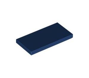 LEGO Dark Blue Tile 2 x 4 (87079)