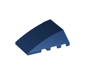 LEGO Dark Blue Wedge 4 x 4 Triple Curved without Studs (47753)