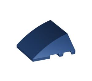 LEGO Dark Blue Wedge Curved 3 x 4 Triple (64225)