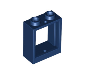 LEGO Dark Blue Window 1 x 2 x 2 without Sill (60592)