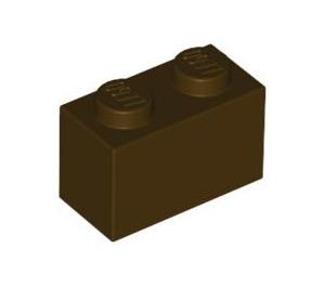 LEGO Dark Brown Brick 1 x 2 (3004)