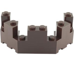 LEGO Dark Brown Brick 4 x 8 x 2.333 Turret Top (6066)