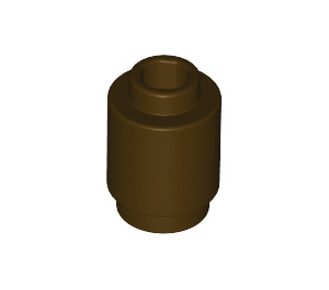 LEGO Dark Brown Brick Round 1 x 1 with Open Stud (3062)