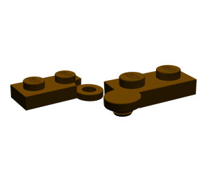LEGO Dark Brown Hinge Plate 1 x 4