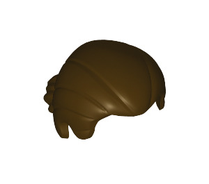 LEGO Dark Brown Minifigure Figure Hair (17630)