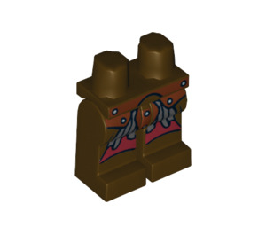 LEGO Dark Brown Minifigure Hips and Legs with Decoration (10452)