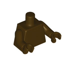 LEGO Plain Minifig Torso with Dark Brown arms and Hands (973 / 76382)