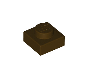 LEGO Dark Brown Plate 1 x 1 (3024)