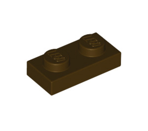 LEGO Dark Brown Plate 1 x 2 (3023)