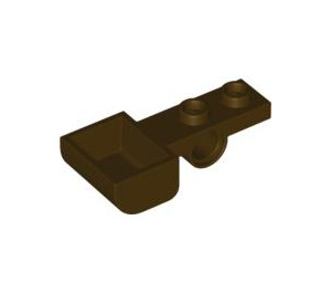 LEGO Dark Brown Plate 1 x 2 with Hole and Bucket (88289)