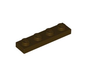 LEGO Dark Brown Plate 1 x 4 (3710)