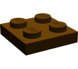 LEGO Dark Brown Plate 2 x 2 (3022)